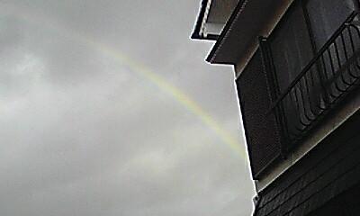 2時ぐらいに虹