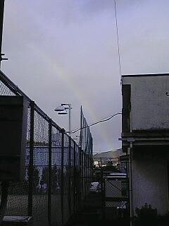 今度は3時ぐらいに虹